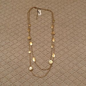 Chico's Gold Double Layer Necklace NWT